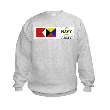 Bravo Zulu Beat Army in Flag! Kids Sweatshirt