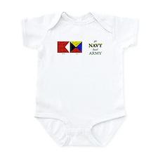 Bravo Zulu Beat Army in Flag! Infant Bodysuit