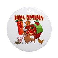 Barnyard 1st Birthday Keepsake Ornament