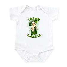 Irish Lassie In Green Infant Bodysuit