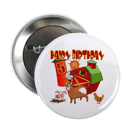 Barnyard 5th Birthday Button (10 pack)