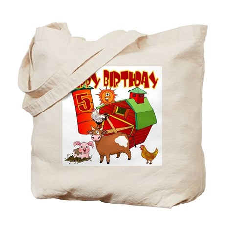 Barnyard 5th Birthday Tote Bag