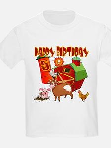 Barnyard 5th Birthday Kids T-Shirt