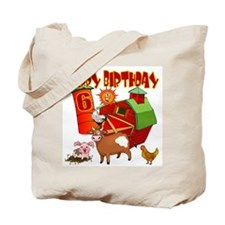 Barnyard 6th Birthday Tote Bag