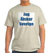 Jag Älskar Sverige Ash Grey T-Shirt