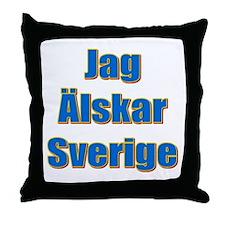 Jag Älskar Sverige Throw Pillow