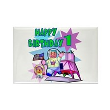 Astronaut 1st Birthday Rectangle Magnet
