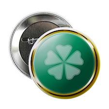 """Medallion 5 Leaf Clover 2.25"""" Button (10 pack)"""