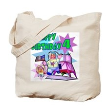 Astronaut 4th Birthday Tote Bag