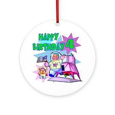 Astronaut 4th Birthday Keepsake Ornament