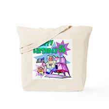 Astronaut 5th Birthday Tote Bag