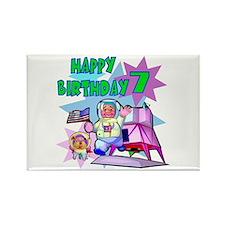 Astronaut 7th Birthday Rectangle Magnet