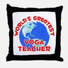 World's Greatest Yoga .. (F) Throw Pillow