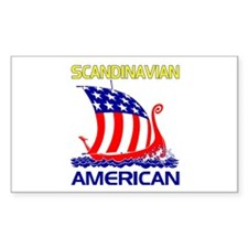 Scandinavian American Ship Rectangle Decal