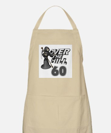 Over The Hill 60th Birthday BBQ Apron