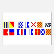 Bravo Zulu Beat Army in Flags Postcards (Package o