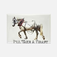 Draft Horse Rectangle Magnet (100 pack)