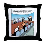 Dog-eat-Cat World Throw Pillow