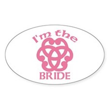 Celtic Knot Bride Oval Decal