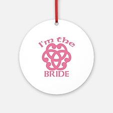 Celtic Knot Bride Ornament (Round)