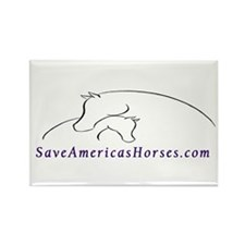 Save America's Horses Rectangle Magnet (100 pack)