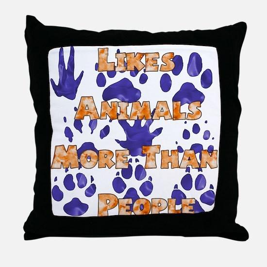 Animal Lover Throw Pillow