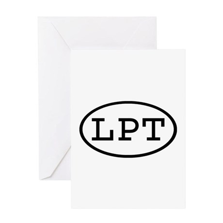 LPT Oval Greeting Card