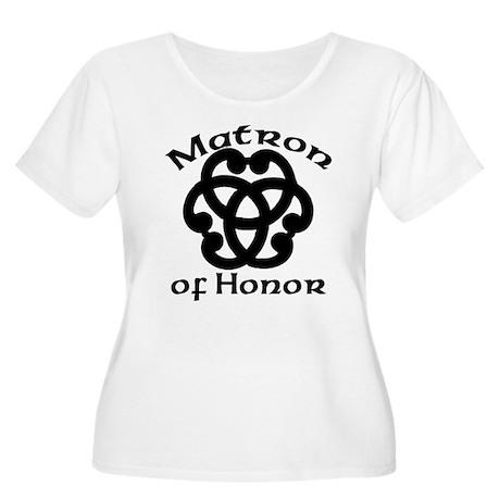 Celtic Knot Matron of Honor Women's Plus Size Scoo