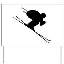 DOWNHILL SKIER Yard Sign
