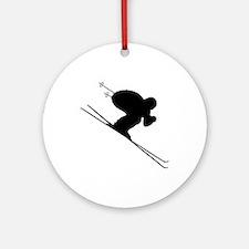 DOWNHILL SKIER Ornament (Round)