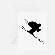 DOWNHILL SKIER Greeting Cards (Pk of 20)