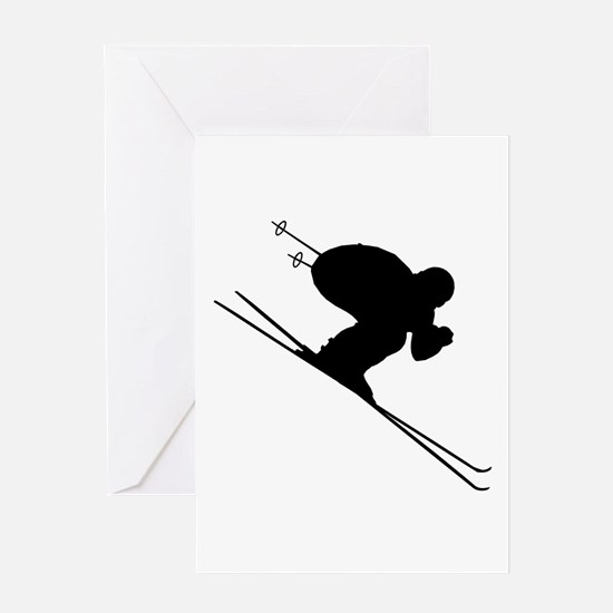 DOWNHILL SKIER Greeting Card