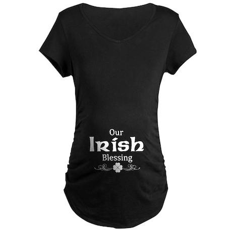 st. patrick's day maternity Maternity Dark T-Shirt