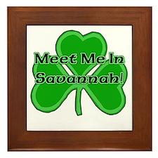 Meet Me In Savannah Framed Tile