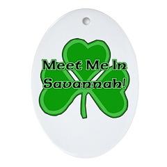 Meet Me In Savannah Oval Ornament