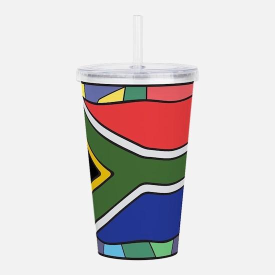 South Africa Flag On S Acrylic Double-wall Tumbler