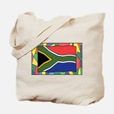 South Africa Flag On Stained Glass Tote Bag