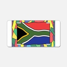 South Africa Flag On Staine Aluminum License Plate