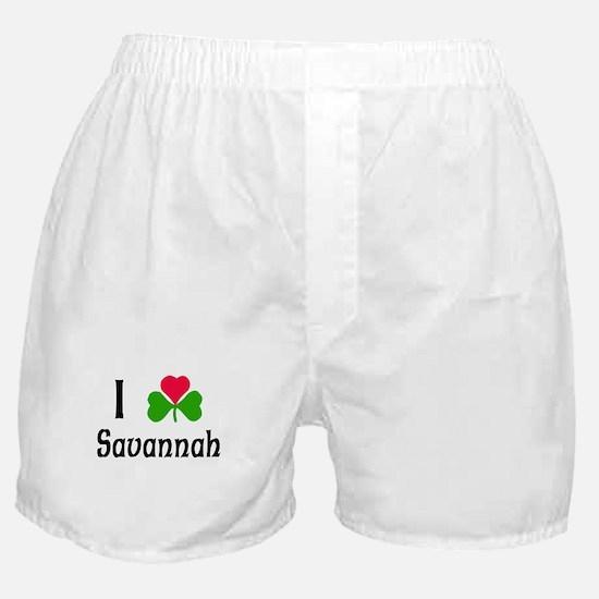 I Love Savannah Boxer Shorts
