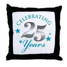 Celebrating 25 years Throw Pillow