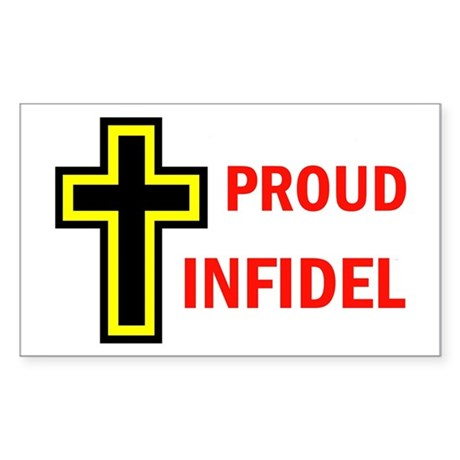 PROUD INFIDEL Rectangle Sticker