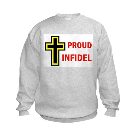 PROUD INFIDEL Kids Sweatshirt