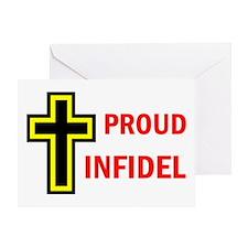 PROUD INFIDEL Greeting Card