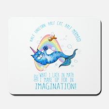 Unicatmaid unicorn cat mermaid Mousepad