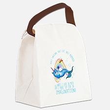 Unicatmaid unicorn cat mermaid Canvas Lunch Bag