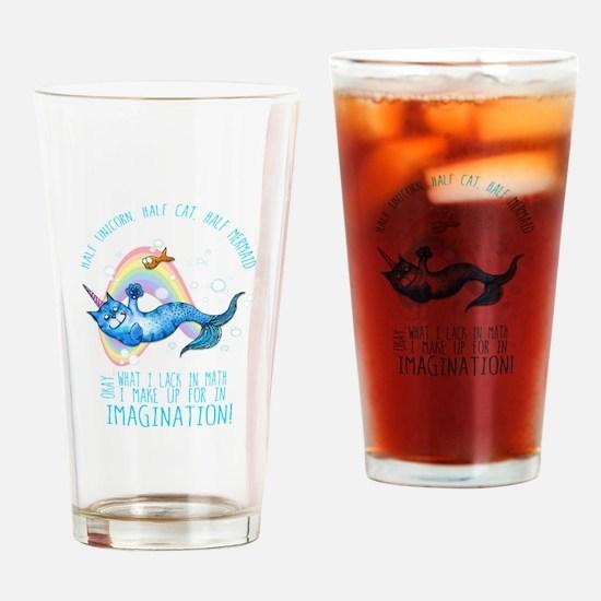 Unicatmaid unicorn cat mermaid Drinking Glass