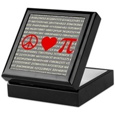 Peace, Love, and Pi Keepsake Keepsake Box