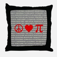 Peace, Love, and Pi Throw Pillow