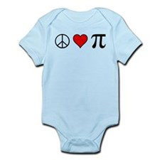 Peace, Love, and Pi Onesie