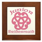 Celtic Knot Junior Bridesmaid Framed Tile